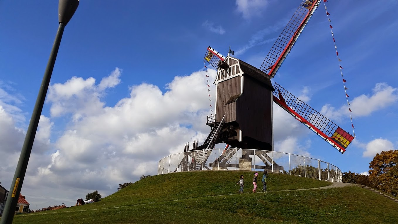 Windmill in Bruges - Photo by MC Krispy E