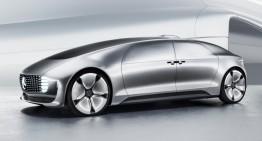 The F 015 Mercedes-Benz's self-driving car has touchscreen windows