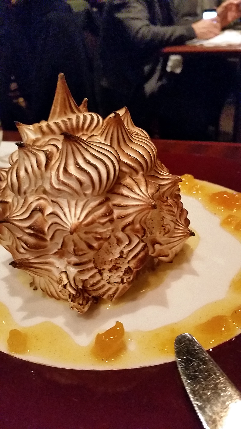 Delmonico's Next Door Grill - Baked Alaska - Photo by MC Krispy E
